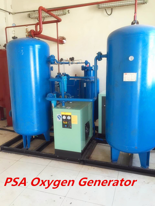 CE SGS High Purity PSA Oxygen Generator Complete System With Air Compressor
